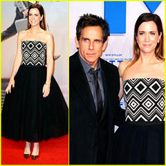 "kristen wiig and ben stiller at ""the secret life of walter mitty"" premiere"